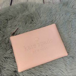 Kate Spade Ash Street Gia Pink Leather Clutch